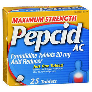 Pepcid Ac Maximum Strength Acid Reducer 25 tabs by Johnson & Johnson (2587440676949)