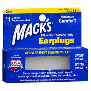 Mack's Pillow Soft Silicone Putty Earplugs 2 Pair by Macks (2587442282581)