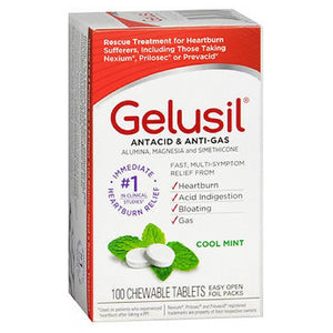 Gelusil Antacid Anti-Gas Tablets Cool mint 100 tabs by Gelusil
