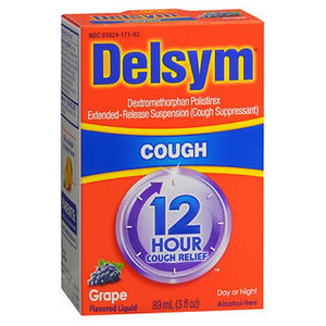 Delsym Adult 12 Hour Cough Relief Grape 3 oz by Delsym (2587443331157)