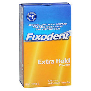 Fixodent Denture Adhesive Powder Extra Hold 2.7 Oz by Fixodent (2587444248661)