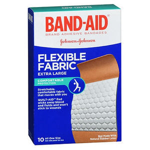 Band-Aid Flexible Fabric Adhesive Bandages Extra Large 10 each by Band-Aid (2587445330005)