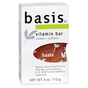 Basis Vitamin Bar Soap Cleans Plus Softens 4 oz by Basis (2587446313045)