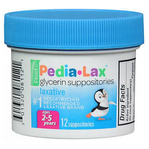 Fleet Pedia Lax Glycerin Suppositories For Ages 2 - 5 Years Children 12 each by Fleet