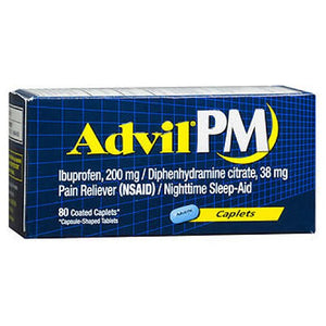 Advil Pain Reliever And Nighttime Sleep Aid 80 Caplets by Advil (2587450474581)