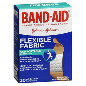 Band-Aid Flexible Fabric Adhesive Bandages All One Size 30 each by Band-Aid (2587451228245)