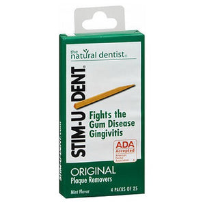 Stim-U-Dent Plaque Removers Mint 100 each (4 packs of 25 ) by Stim-U-Dent (2587453063253)