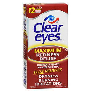 Clear Eyes Maximum Redness Relief Eye Drops 0.5 oz by Clear Eyes