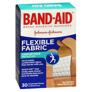 Band-Aid Flexible Fabric Bandages Assorted 30 each by Band-Aid (2587458863189)