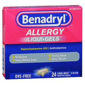 Benadryl Dye Free Allergy Relief Liqui Gels 24 ct by Johnson & Johnson (2587459059797)