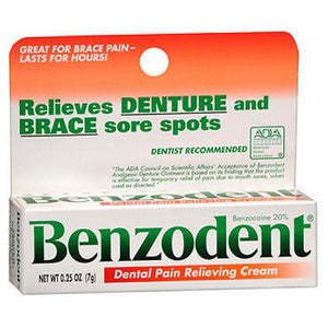 Benzodent Dental Pain Relieving Cream 0.25 oz by Benzodent