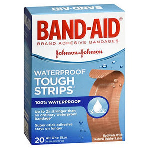 Band-Aid Tough-Strips Waterproof Bandages 20 each by Band-Aid (2587459813461)