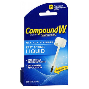 Compound W Wart Remover - Maximum Strength Liquid 0.31 oz by Med Tech Products (2587460763733)