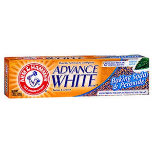 Arm & Hammer Advance White Fluoride Toothpaste Baking Soda And Peroxide 4.3 oz by Arm & Hammer (2587460927573)