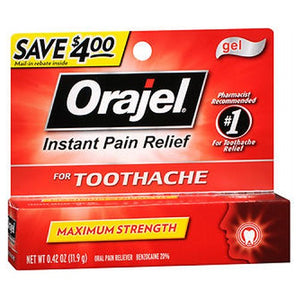Orajel Maximum Strength Toothache Pain Relief Gel 0.42 oz by Orajel