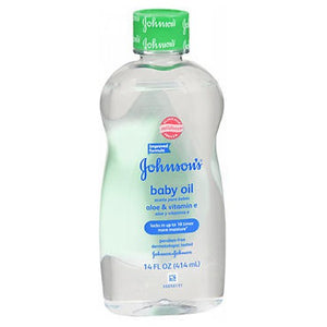 Johnsons Baby Oil With Aloe Vera Vitamin E 14 Oz by Johnson & Johnson (2587468496981)