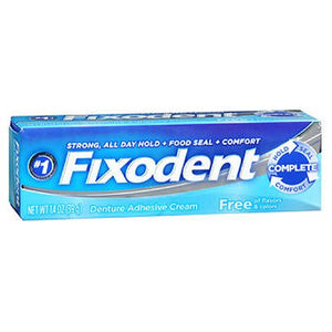 Fixodent Free Denture Adhesive Cream 1.4 Oz by Fixodent (2587468660821)