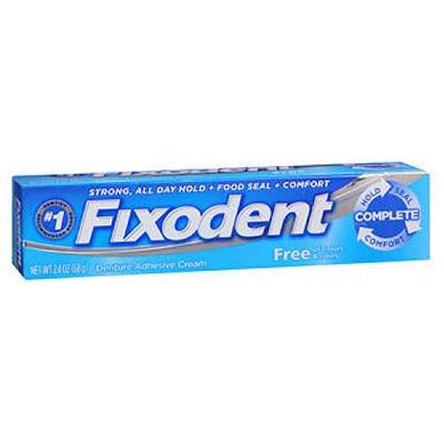 Fixodent Free Denture Adhesive Cream 2.4 Oz by Fixodent