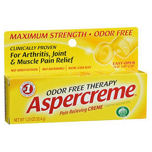 Aspercreme Odor Free Therapy Pain Relieving Creme With Aloe 1.25 oz by Act (2587469643861)
