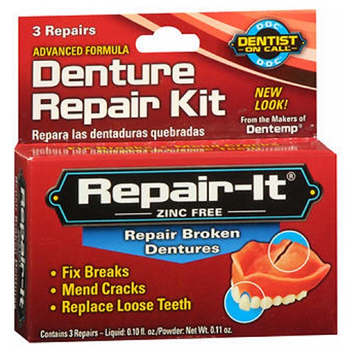 D.O.C. Emergency Denture Repair Kit 3 Each by D.O.C.