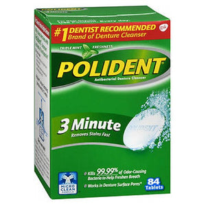 Polident Denture Cleanser Antibacterial 84 tabs by Abreva