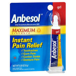 Anbesol Oral Anesthetic Gel Maximum Strength 0.33 oz by Anbesol
