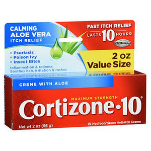 Cortizone-10 Anti-Itch Creme With Healing Aloe Maximum Strength 2 oz by Cortizone-10 (2587983773781)