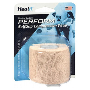 Maximum Support Self-Adhering Athletic Tape Or Bandage 2 Inch, Beige 1 Each by Self-Grip