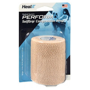 Maximum Support Self-Adhering Athletic Tape Or Bandage 3 Inch, Beige 1 Each by Self-Grip