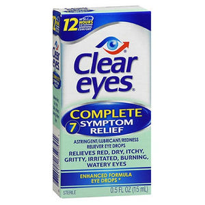 Clear Eyes Complete 7 Symptom Relief Eye Drops 0.5 oz by Clear Eyes
