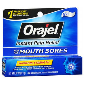 Orajel Mouth Sore Pain Relief Gel 0.42 Oz by Arm & Hammer