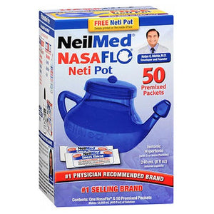 Neilmed Nasaflo Unbreakable Neti Pot With Premixed Packets 1 each by Neilmed