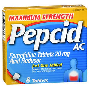 Pepcid Ac Maximum Strength Acid Reducer 8 tabs by Johnson & Johnson (2587477278805)