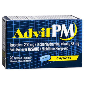 Advil Pain Reliever And Nighttime Sleep Aid 20 caplets by Advil (2587477475413)