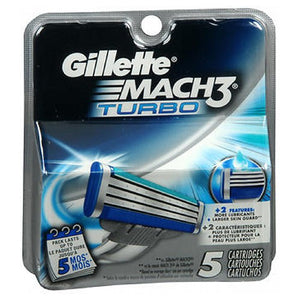 Gillette Mach3 Turbo Cartridges 5 each by Gillette