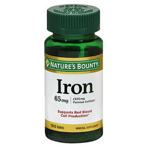 Nature's Bounty Iron 100 tabs by Nature's Bounty (2587479343189)