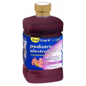 Sunmark Electrolyte Oral Maintenance Solution Grape 33.8 Oz by Sunmark (2587482259541)