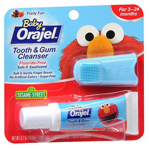 Baby Orajel Tooth Gum Cleanser Mixed Fruit 0.7 oz by Baby Orajel