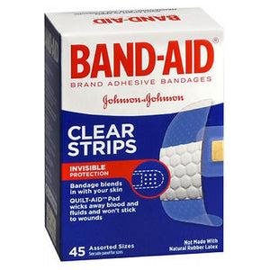 Band-Aid Clear Adhesive Comfort-Flex Bandages Assorted 45 each by Band-Aid (2587485995093)