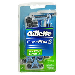 Gillette Customplus 3 Disposable Razors Sensitive 4 each by Gillette