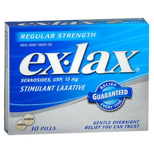 Ex-Lax Pills Regular Strength 30 each by Novartis Consm Hlth Inc