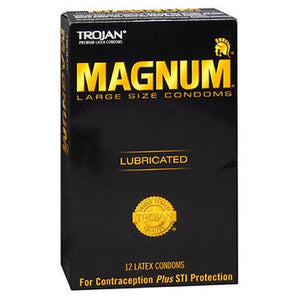 Trojan Magnum Lubricated Latex Condoms Large 12 each by Trojan