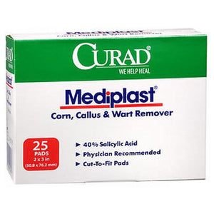 Curad Mediplast Corn Callus & Wart Remover 2 inches x 3 inches, 25 Each by Curad