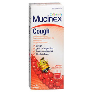 Mucinex Childrens Cough Liquid Cherry Flavor 4 oz by Airborne (2587492319317)