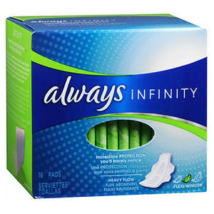 Always Infinity with FlexFoam Pads with Flexi-Wings 16 Count by Always