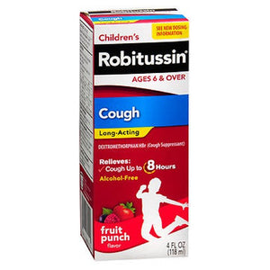 Robitussin Long-Acting Cough Relief Liquid Fruit Punch 4 oz by Robitussin