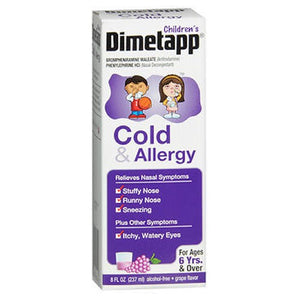 Dimetapp Children's Cold & Allergy Relief Liquid Grape 8 oz by Dimetapp (2587992817749)