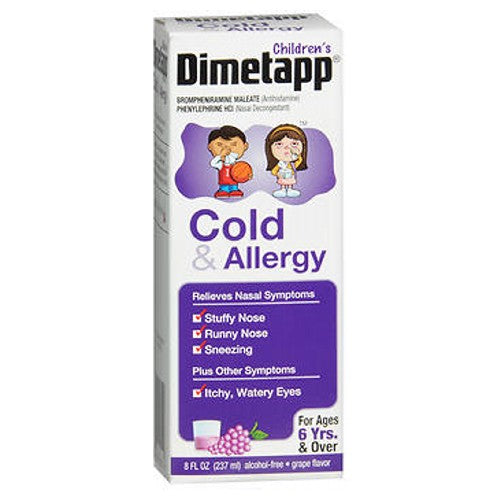 Dimetapp Children's Cold & Allergy Relief Liquid Grape 8 oz by Dimetapp