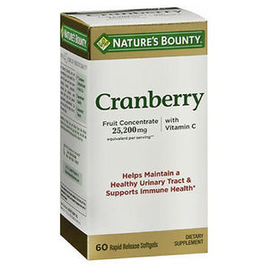 Nature's Bounty Triple Strength Natural Cranberry 60 caps by Nature's Bounty (2587493498965)
