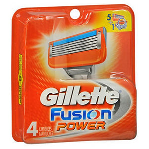 Gillette Fusion Power Cartridges 4 each by Gillette (2587493564501)